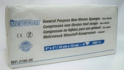 Picture of General Purpose Non-Woven Sponges 4'' x 4''- Non-Sterile - Medicom