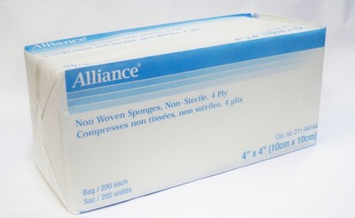 "Picture of Non Sterile Sponges, 4 ply, 4"" x 4"" - Alliance"