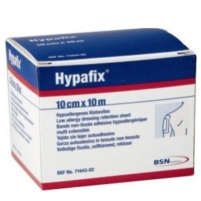 Picture of Low allergy dressing retention sheet 10 cm x 10 m - Hypafix